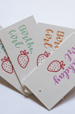 Birthday Girl Letterpress Gift Tags