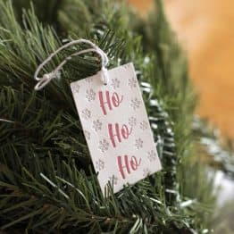 Single Red Christmas Letterpress Gift Tag