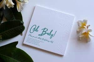 Letterpress Baby Shower invitation