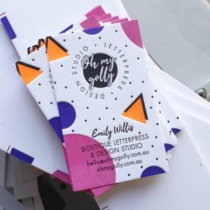 Oh My Golly Letterpress Businesscard